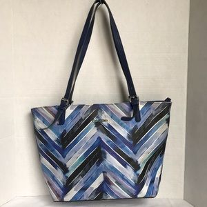 Calvin Klein black and blue tote bag
